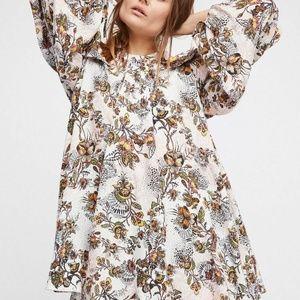 Free People Off-The-Shoulder Print Halter Dress S